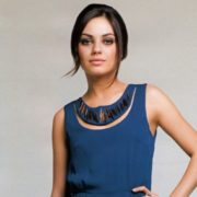 Fashionable actress Kunis Mila