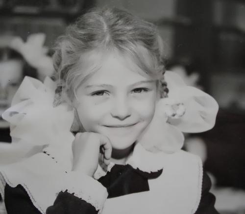 Valentina Zelyaeva in her school age