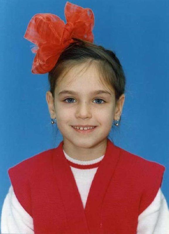 Irina Antonenko in her childhood