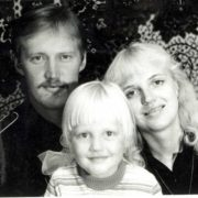 Little Masha Malinovskaya and her parents