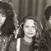 Little Natalia Rudova with her mother and sister