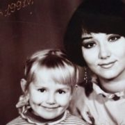 Little Zoya Berber and her mother