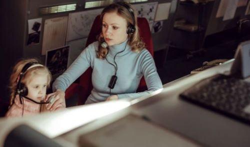 Mironova in the movie Salyut-7