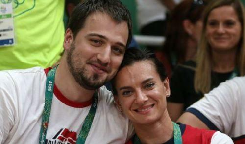 Nikita Petinov and Yelena Isinbayeva