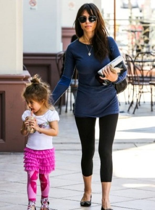 Oksana Grigorieva and her daughter
