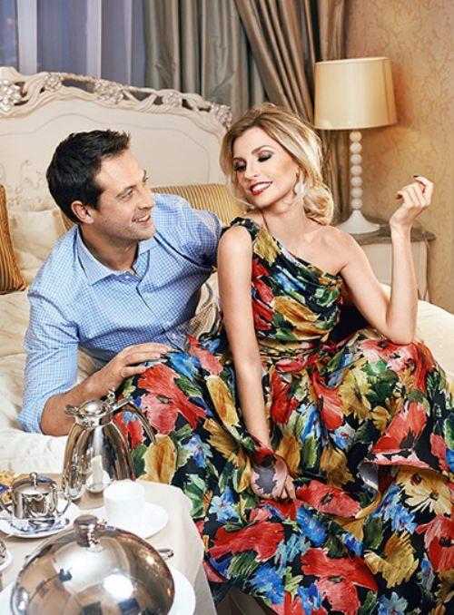 Sasha Savelieva and her husband
