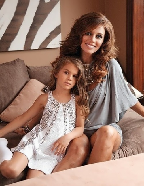 Sedokova with daughter