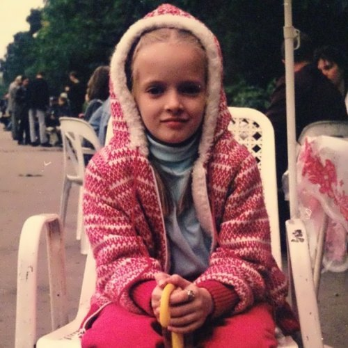 Daria Strokous in her childhood