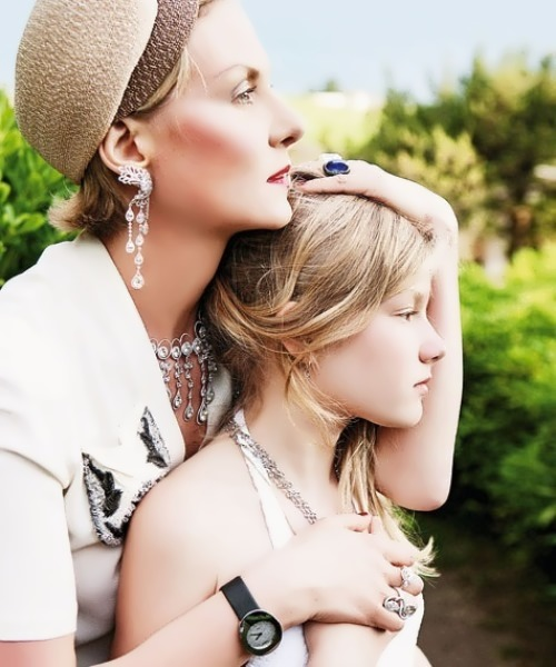 Litvinova and her daughter