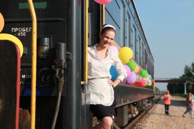 Actress Daria Charusha in the film Farewell of Slavianka
