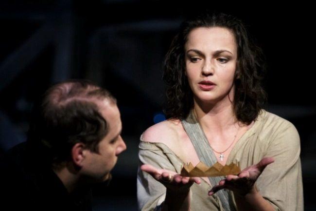 Actress Irina Leonova in the play King Lear