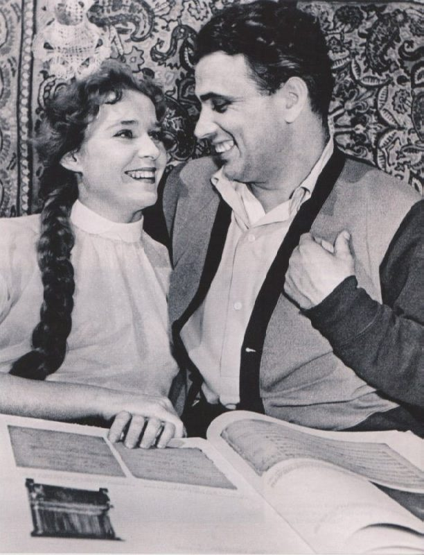 Actress Rufina Nifontova and her husband Gleb Nifontov