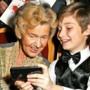 Actress Yulia Borisova and her great-grandson Alexander