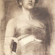 Artist A.R. Eberling. Portrait of Karsavina, 1907