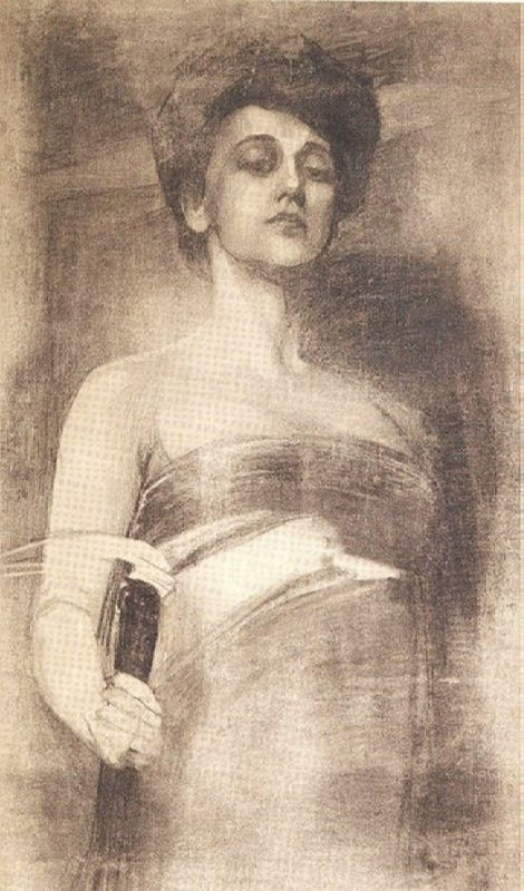 Artist A.R. Eberling. Portrait of Karsavina, 1907