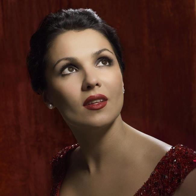 Attractive opera singer Netrebko Anna