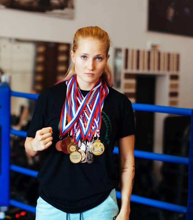 Bright fighter Yankova Anastasia