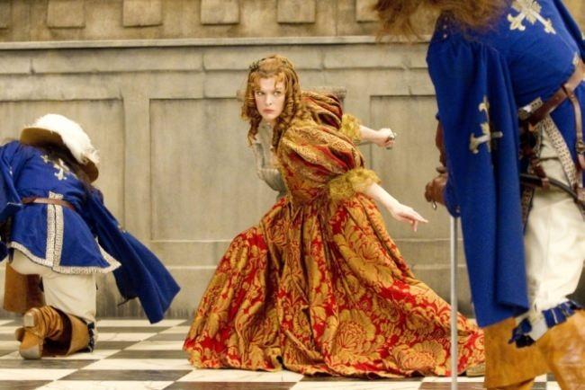 Brilliant Milla Jovovich in the movie Musketeers