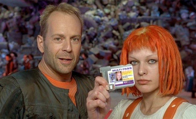 Bruce Willis and Milla Jovovich