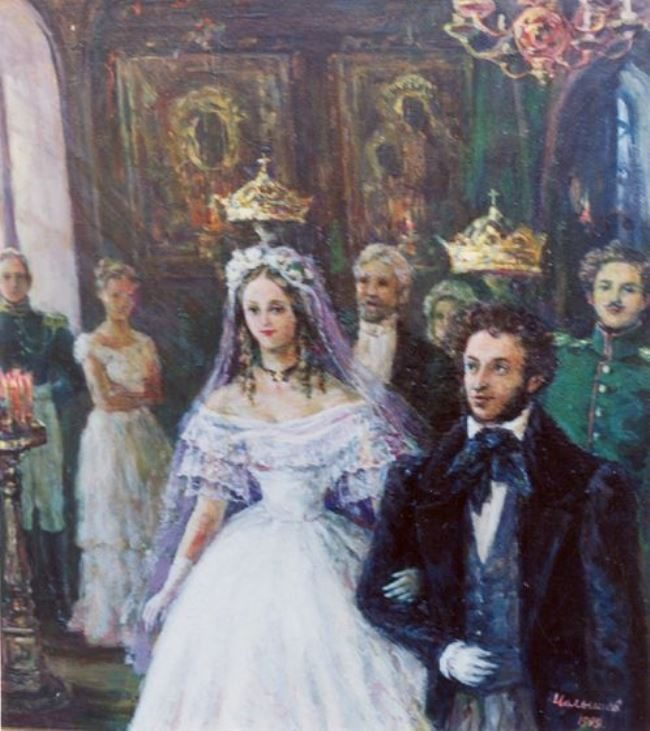 Chelyshev Vadim. Wedding of Pushkin and Goncharova