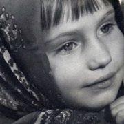Cute Olga Prokofieva in her childhood