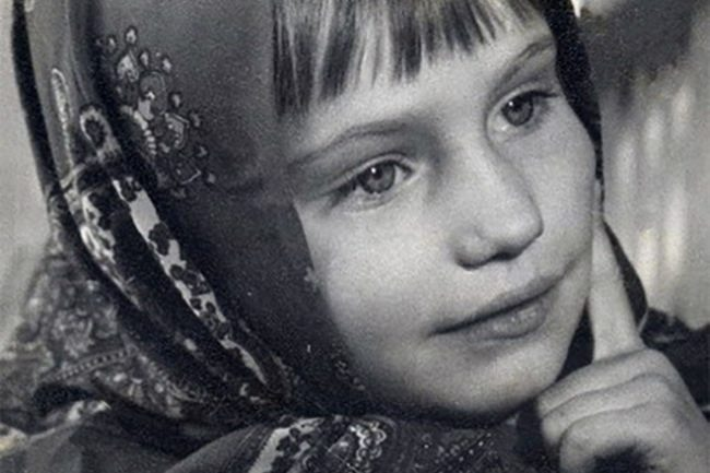 Cute Olga Prokofieva in her childhood