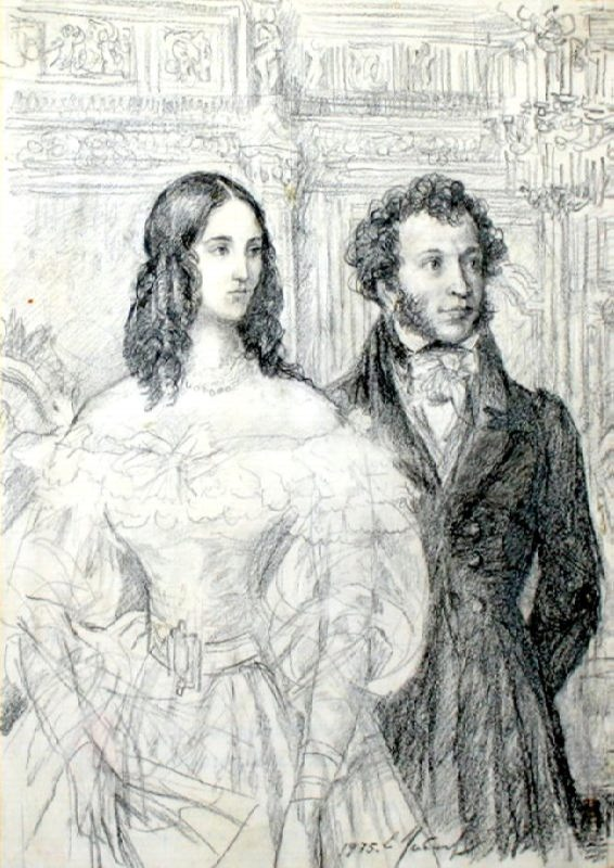 E.A. Ustinov. Pushkin and Natali