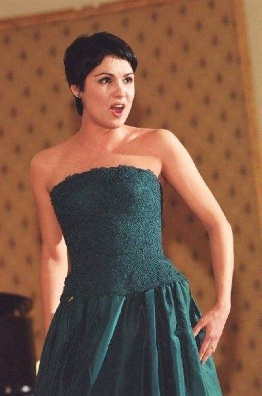 Gorgeous opera singer Netrebko Anna