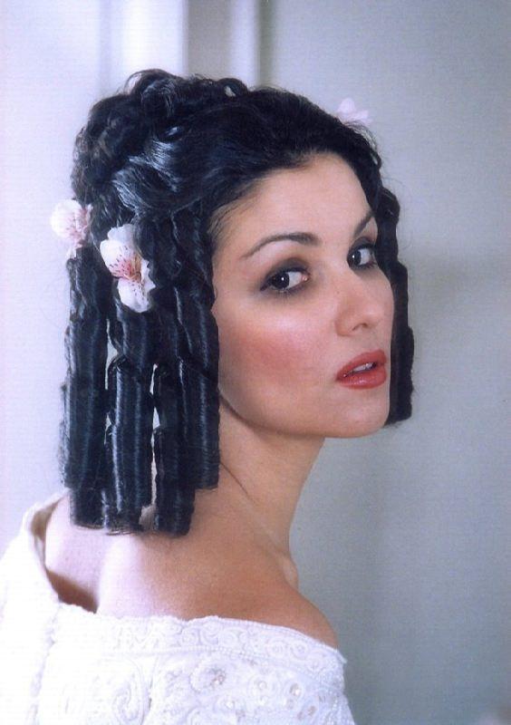 Graceful opera singer Netrebko Anna