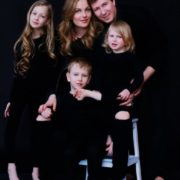 Happy family. Svetlana Koroleva with her husband and children