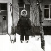 Little Ksenia Novikova in her childhood
