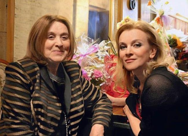 Margarita Terekhova with her daughter Anna