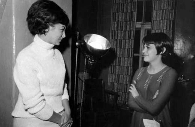 Mireille Mathieu and Edita Pieha