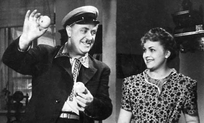 Original actress Ludmila Tselikovskaya and Mikhail Zharov