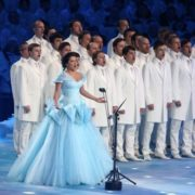 Outstanding Anna Netrebko at the Sochi Olympics