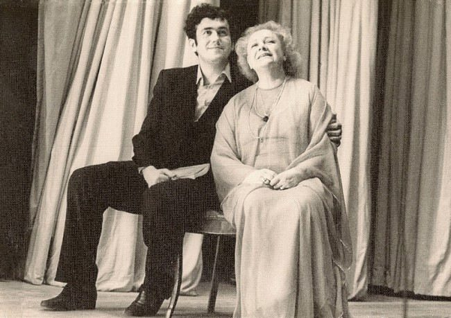 Sadalskiy and Tselikovskaya at the premiere of the film Forest, 1980