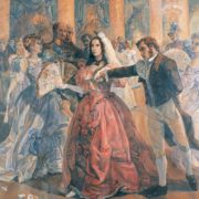Svyatoslav Gulyaev. Pushkin and Goncharova at a ball