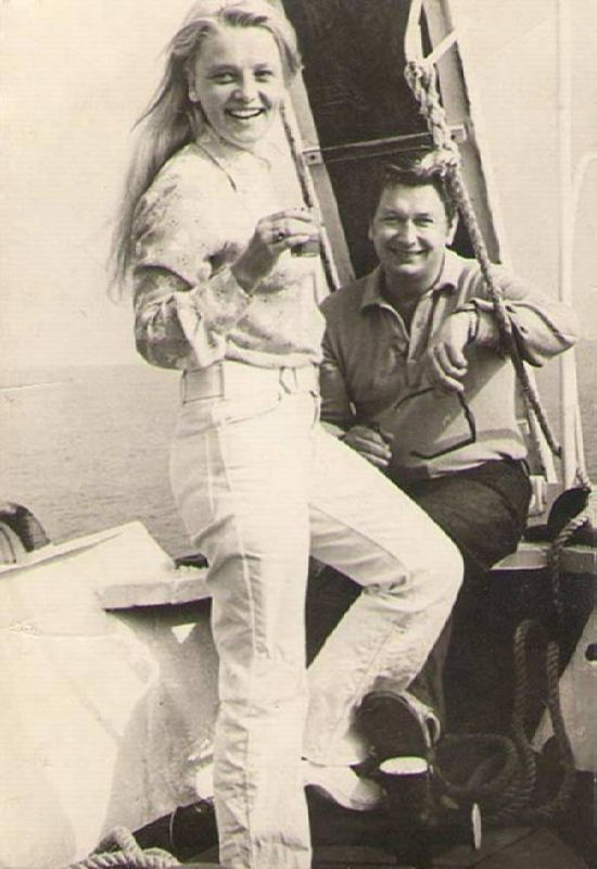Third husband Boris Egorov and Natalia Kustinskaya
