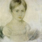 Unknown artist. Natalia Nikolaevna Goncharova in the childhood. Early 1820s