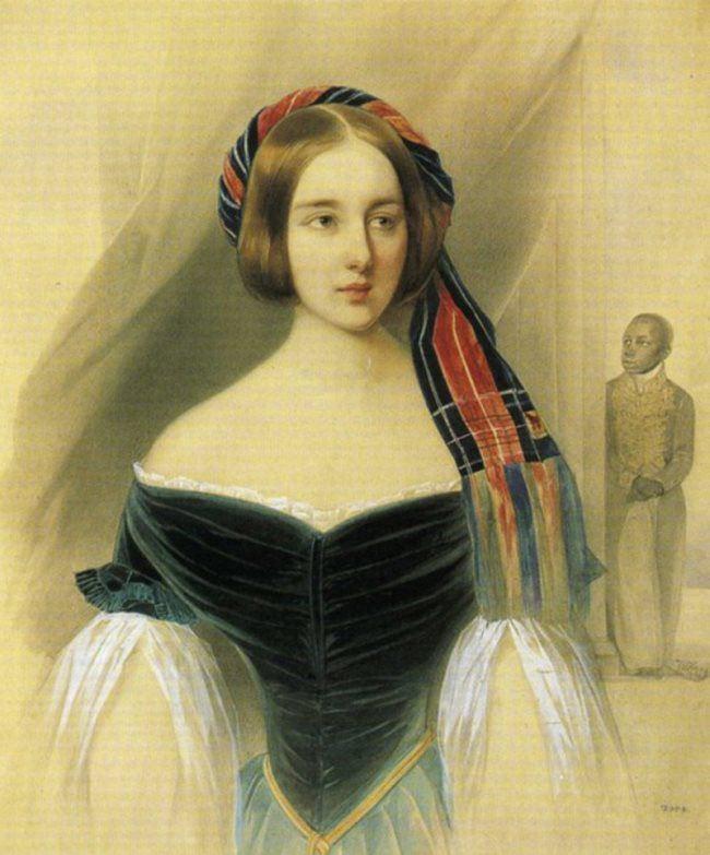 V. Hau. Natalia Goncharova, 1841