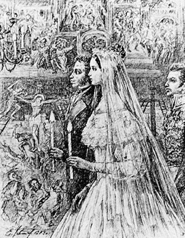 Wedding of Pushkin and Goncharova
