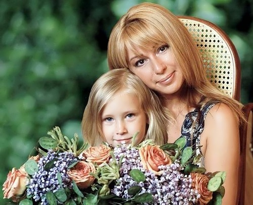 Alena Apina and her daughter Xenia