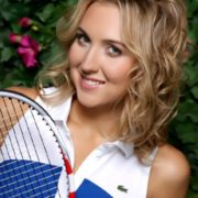 Awesome tennis player Vesnina Elena