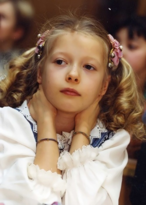 Bobrova in her childhood