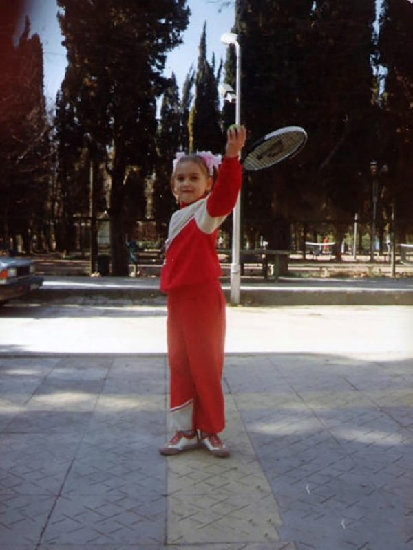 Little Elena Vesnina in her childhood