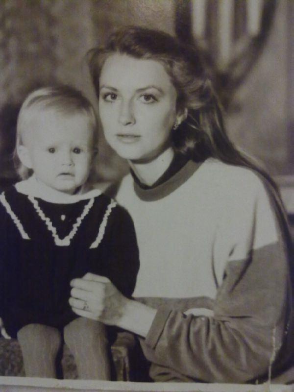 Little Ksenia Vdovina - Ryzhova with her mother