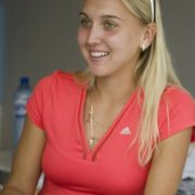 Pretty tennis player Vesnina Elena