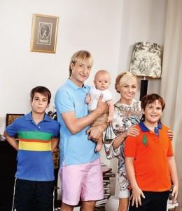 Rudkovskaya, Plushenko and children