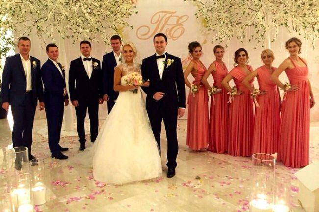 Wedding of Elena Vesnina
