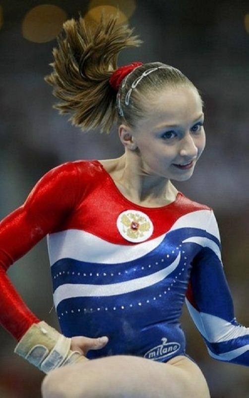 Bright gymnast Ksenia Semyonova